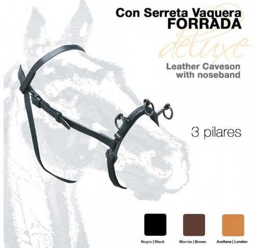 Leather THREE RING serreta